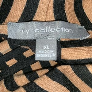 NY Collection Jackets & Coats - Drape open front striped jacket